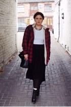 red mens Primark jacket - black litas Jeffrey Campbell boots - black Zara bag