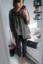 River Island jeans - Zara boots - Miss Selfridge jacket