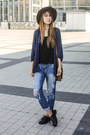 Black-shellys-london-boots-navy-boyfriend-jeans-new-look-jeans