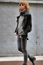 cotton James Jeans jeans - leather  cotton Muubaa jacket - cotton Zara scarf