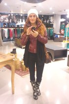 Bershka jacket - Tally Weijl sweater - Zara leggings - Accessorize scarf