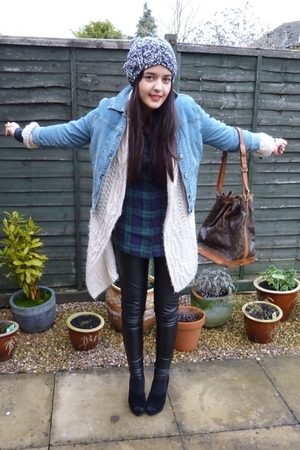 vintage jacket - aubin and wills hat - Topshop pants