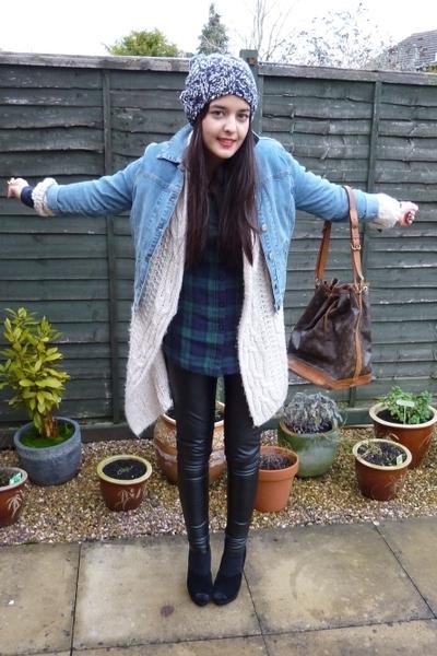 vintage jacket - aubin and wills hat - Topshop pants