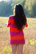 hot pink oversized planet gold sweater - carrot orange Polo sweater
