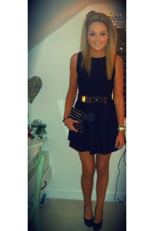 Moschino belt - Topshop dress - Zara bag - Topshop heels