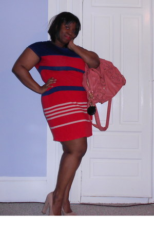 red stripes Jason Wu for Target dress - pink flower kensie bag
