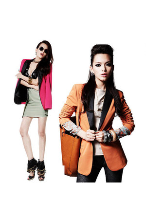 candy color blazer