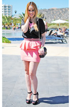 bubble gum pepa loves skirt - black Zara shoes - black Teria Yabar bag