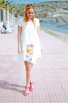 red suiteblanco skirt - white inlovewithfashion shirt - red Primark heels