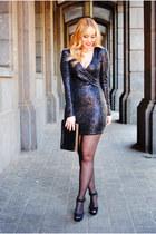 black Zara shoes - black AX Paris dress