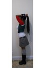 Dark-green-h-m-vest-ruby-red-forever-21-t-shirt