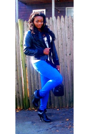 Colin Stuart boots - Bebe jeans - Express jacket - H&M shirt - Aldo bag