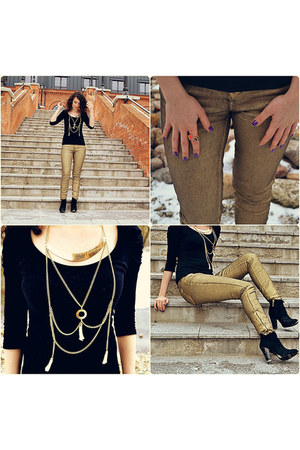 Zara jeans - Guess boots - Stradivarius top - Promod necklace