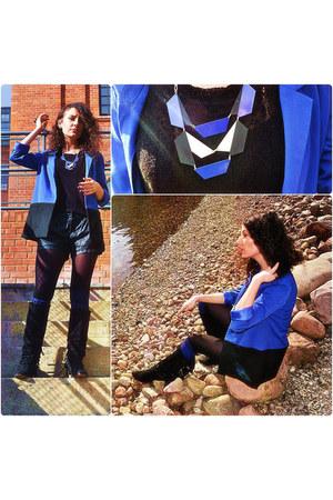 Promod necklace - Zara boots - H&M blazer - Terranova shorts
