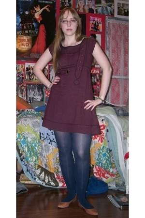 Urban Outfitters dress - Urban Outfitters necklace - Old Navy tights - Urban Out