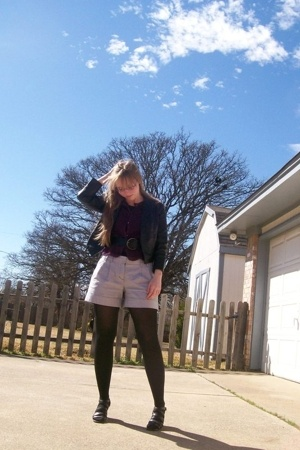 Urban Outfitters jacket - Urban Outfitters top - Target belt - Express shorts -