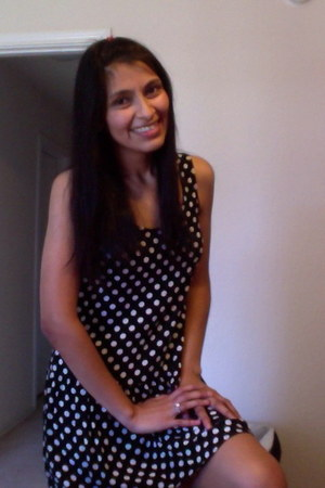 black pooka dots dress