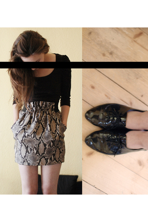 H&M blouse - Zara skirt - Zara shoes