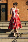 Red-dusty-rose-vintage-dress-white-dusty-rose-vintage-gloves-black-jessica-s