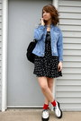 White-creepers-tuk-shoes-black-polka-dot-material-girl-dress