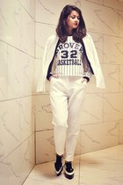 Sheinsidecom jacket - PERSUNMALL sweater - iconic pants