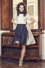 Heather-gray-ebarrito-boots-navy-n-1-couture-dress-beige-canbag-ebarrito-bag