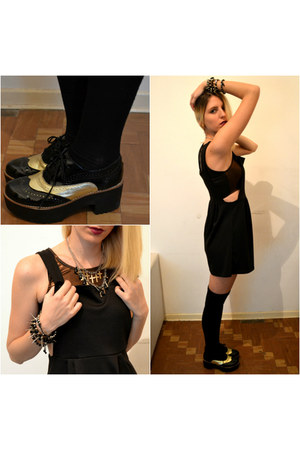 black diy bracelets DIY bracelet - black oxfords shoes