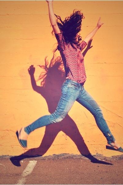Avarcas Pons sandals - skinny jeans Armani Exchange jeans - silk Zara blouse