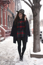 navy plaid Choies shirt