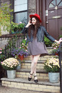 Maroon-missguided-dress-red-red-lack-of-color-hat