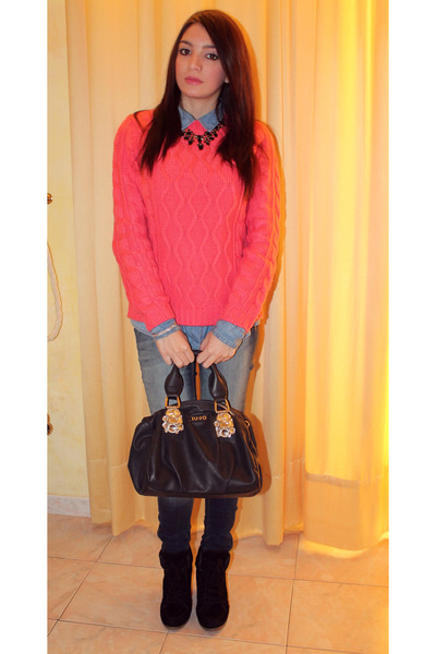 pull&bear sweater - Tally Weijl shoes - Zara jeans - pull&bear shirt