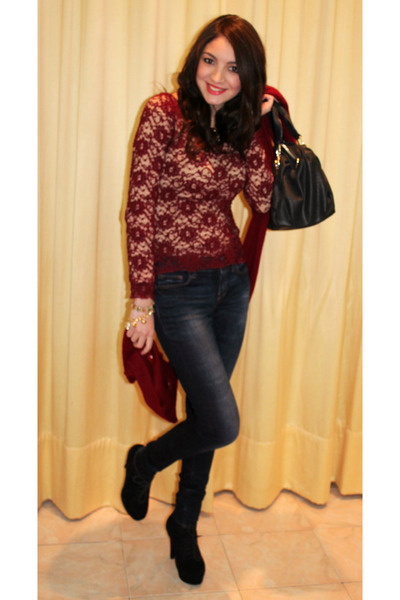 Stefanel top - asos shoes - Zara jeans - Luana Ferracuti scarf - liujo bag