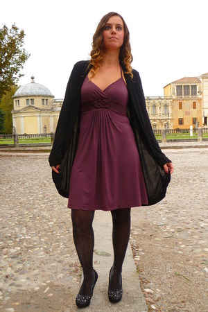 black Oroblu tights - maroon Motivi dress