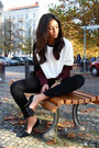 Crimson-cos-sweater-black-aldo-heels-black-fidelity-denim-pants