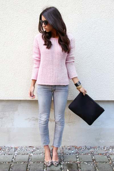 bubble gum & other stories sweater - camel Nine West shoes