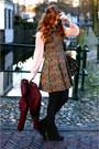Crimson-stitched-jacket-dark-gray-suede-dolce-vita-boots