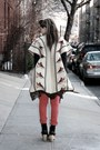 Red-tripp-nyc-jeans-beige-vintage-cape-black-uniqlo-top-beige-misc-shoes