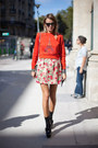 Carrot-orange-unknown-sweater-neutral-floral-skirt
