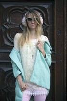 Sheinside coat - Tally Weijl jeans - Pussycatlondon blouse