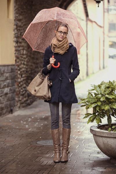 coat - cesare paciotti boots - H&M scarf - Camomilla bag