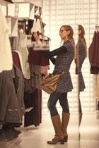 cesare paciotti boots - FCUK dress - Camomilla bag