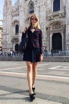 brick red les marais blazer - black carlo pazolini shoes - black Gucci bag
