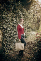 denny rose blazer - Gucci bag - pt0w pants - Moschino hair accessory