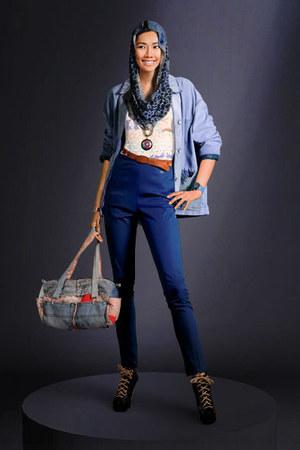 shoes - jeans - jacket - bag - belt - top
