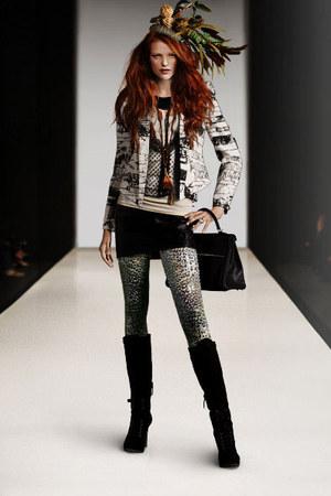 boots - jacket - leggings - bag - skirt - top