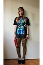 Black-neff-hat-leopard-h-m-leggings-black-sheepskin-rjs-fuzzies-loafers
