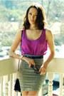 Amethyst-ny-co-top-heather-gray-bebe-skirt