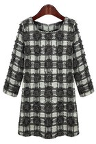 Standout Plaid Fuzzy Dress