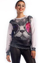 Cool Cat Graphic Sweatshirt