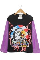 Eagle Fuzzy Sleeve Fleece Sweatshirt